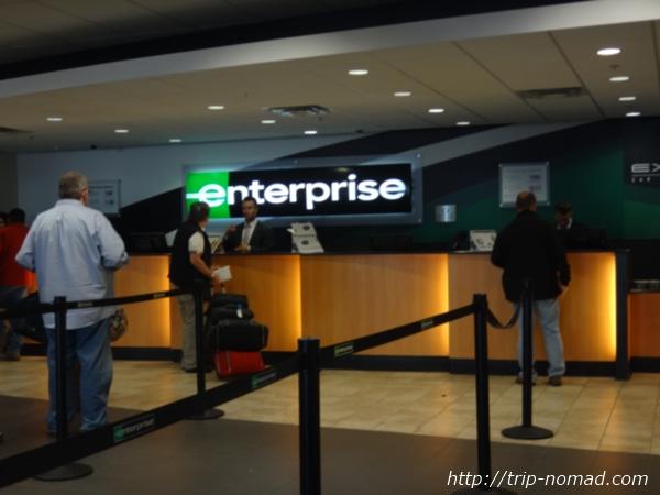 『フェニックス空港・レンタカーセンター(Rental Car Center)』エンタープライズ(Enterprise)ブース画像