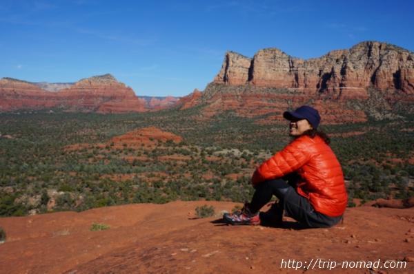 『ベルロック(Bell Rock)』中腹付近で瞑想画像