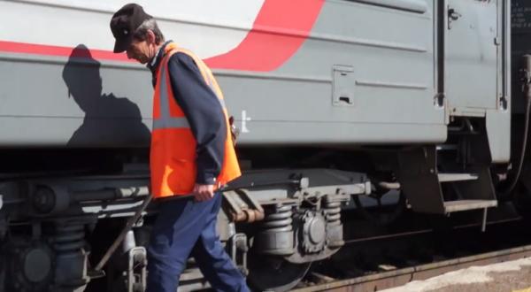シベリア鉄道の車両チェックで聞こえる音がほのぼの~【動画】
