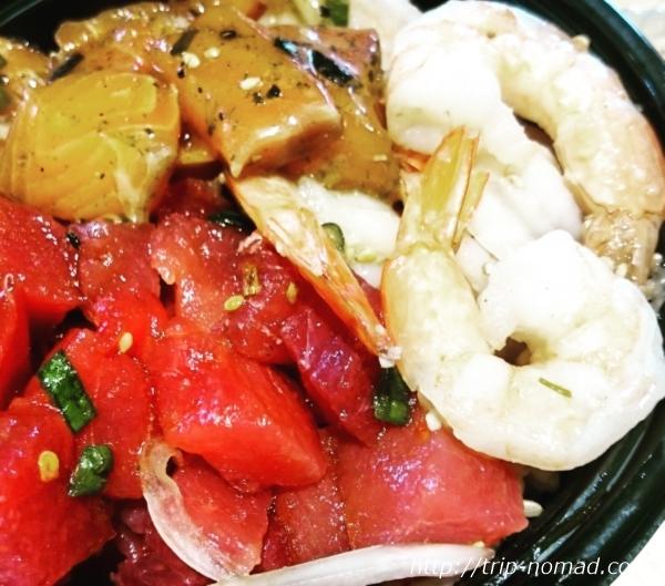 ハワイでいちばんおいしい「ポキ丼」が食べられるお店『ニコスピア38』!行き方わかりやすく書いています♪