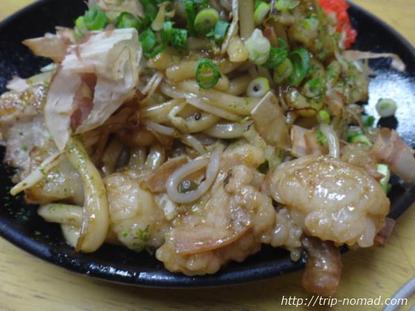 岡山駅前でぷりホルな津山B級グルメ「ホルモンうどん」を食べるなら『お好み焼き もり』!